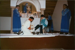 Very first Washing of the feet ceremony